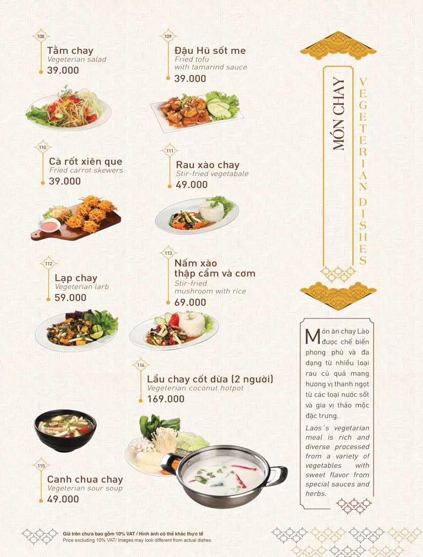 Menu Khao Lao - Duy Tân 28