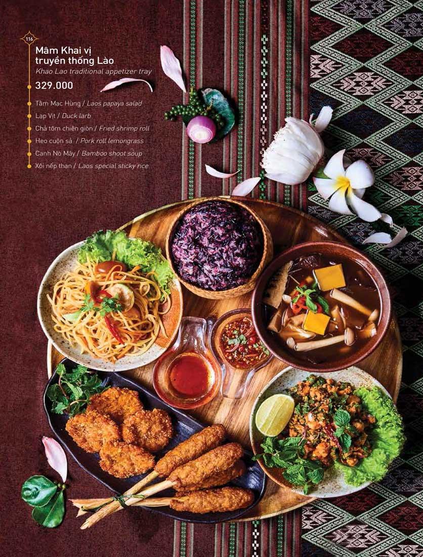 Menu Khao Lao - Duy Tân 30