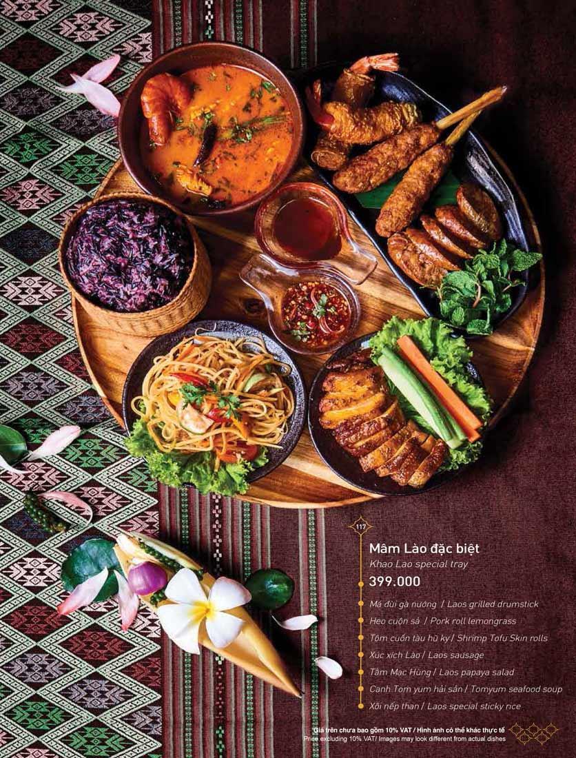 Menu Khao Lao - Duy Tân 31