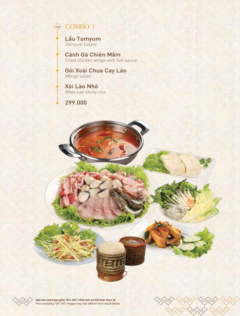 Menu Khao Lao - Duy Tân 32