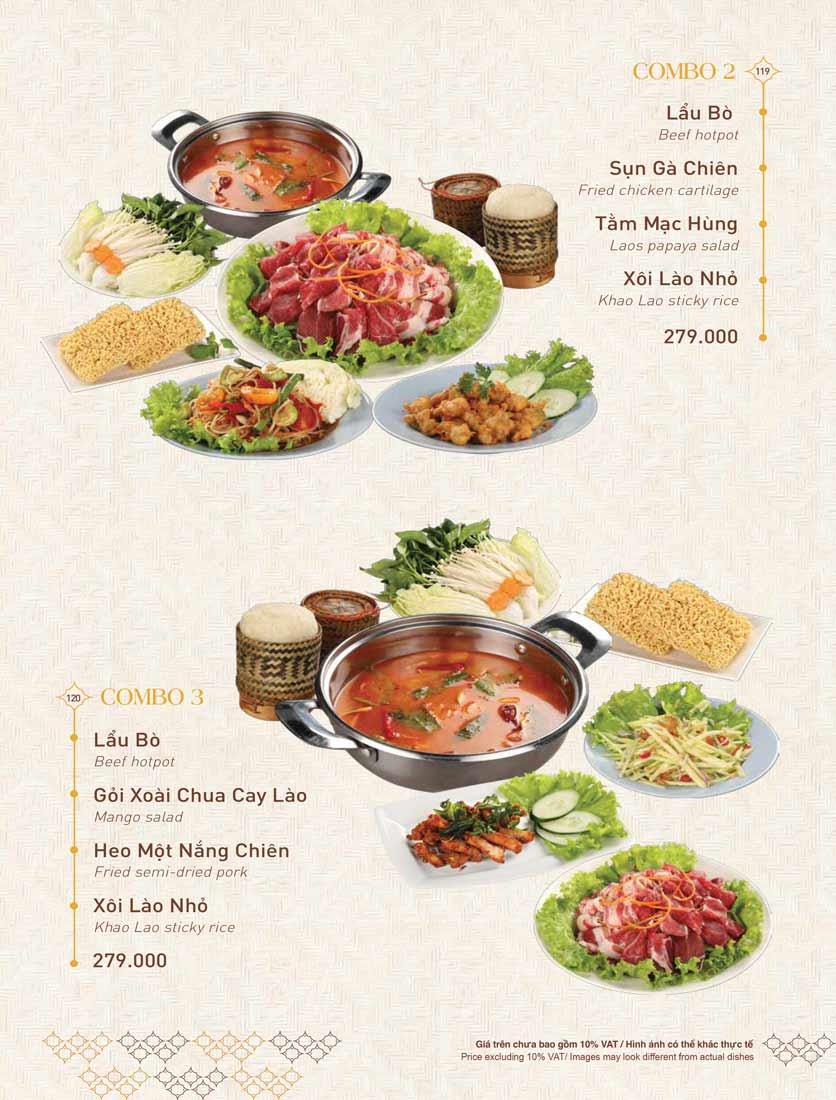 Menu Khao Lao - Duy Tân 33
