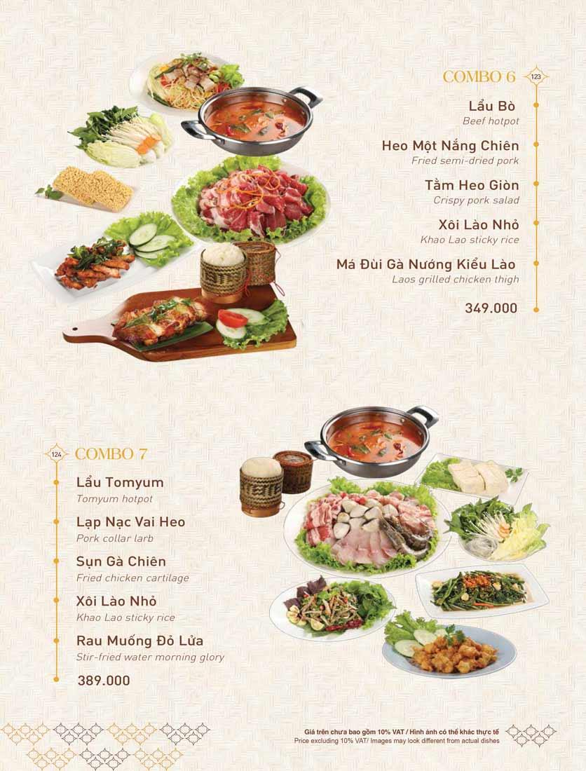 Menu Khao Lao - The Manor 35