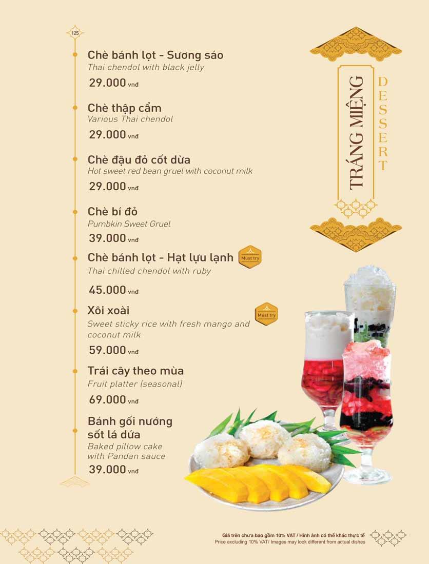 Menu Khao Lao - The Manor 37