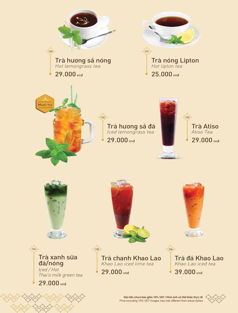 Menu Khao Lao - Duy Tân 39