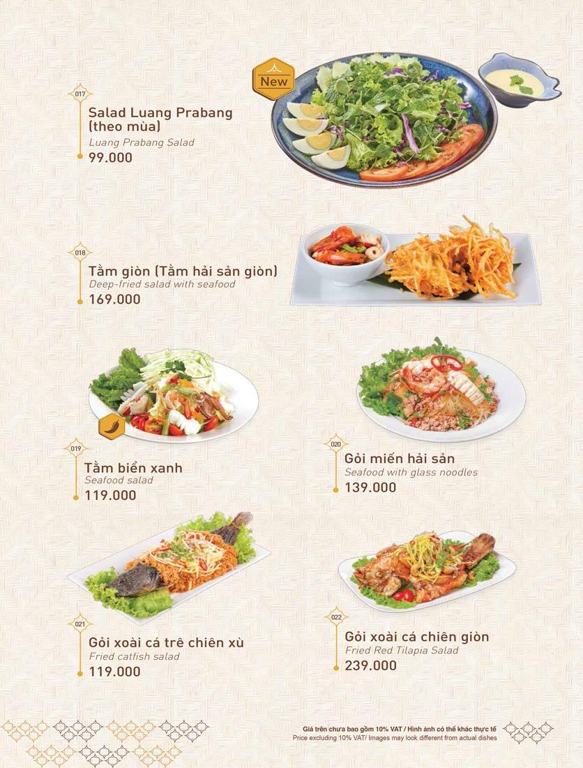 Menu Khao Lao - Duy Tân 4
