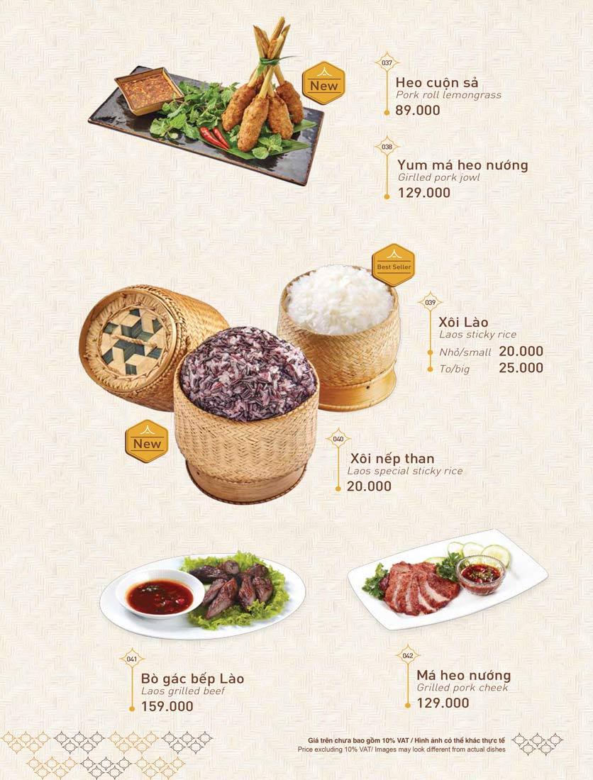 Menu Khao Lao - Duy Tân 8
