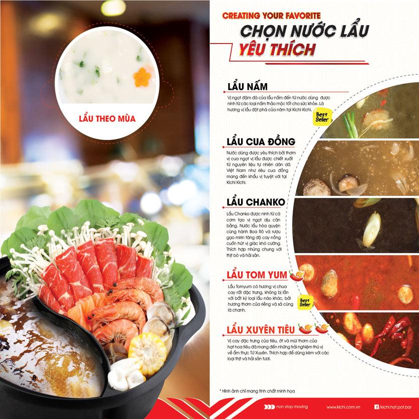 Menu Lẩu Băng Chuyền Kichi Kichi - Aeon Mall Bình Tân 1