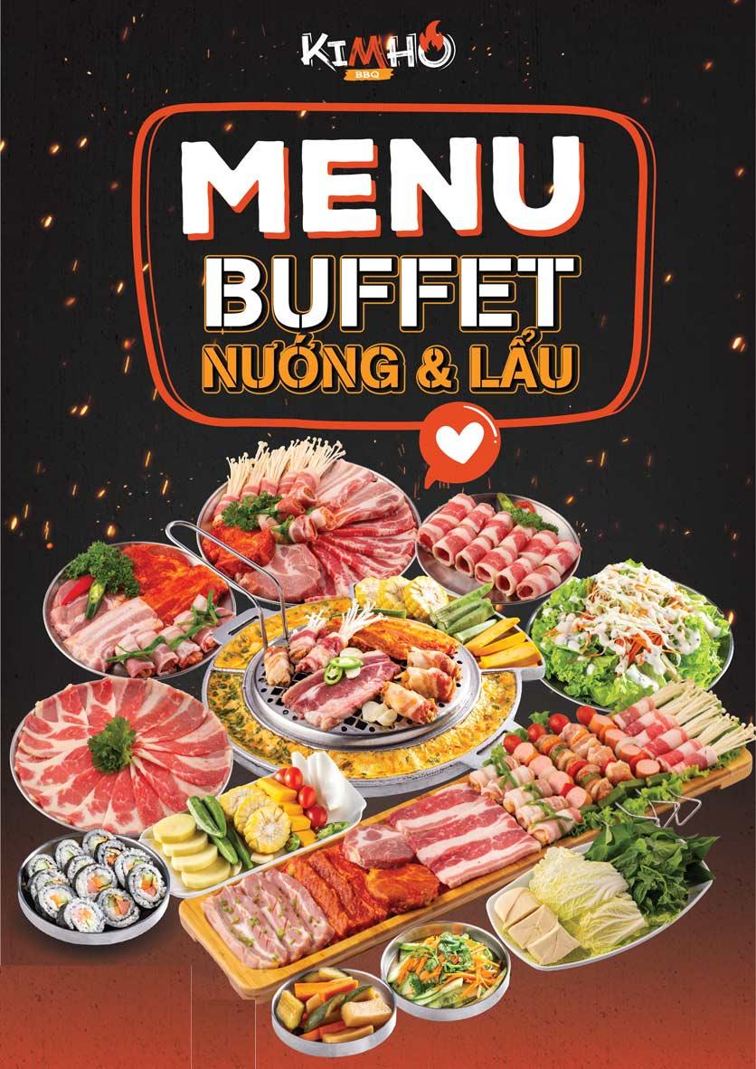 Menu KIMHO BBQ - Buffet Nướng & Lẩu – Tô Hiệu 1