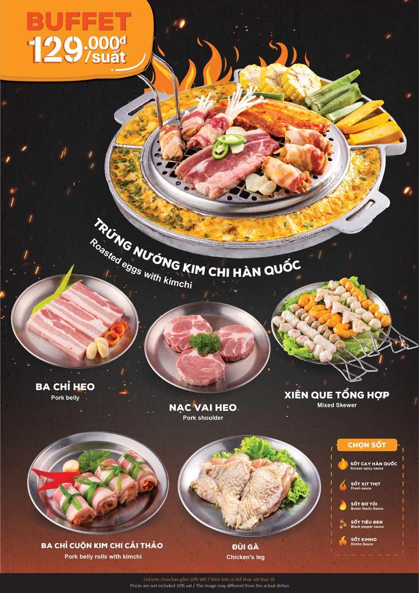Menu KIMHO BBQ - Buffet Nướng & Lẩu – Tô Hiệu 2