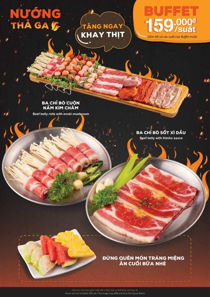 Menu KIMHO BBQ - Buffet Nướng & Lẩu – Tô Hiệu 3