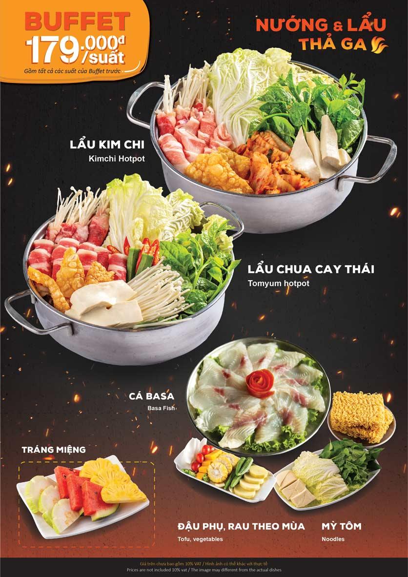 Menu KIMHO BBQ - Buffet Nướng & Lẩu – Tô Hiệu 4