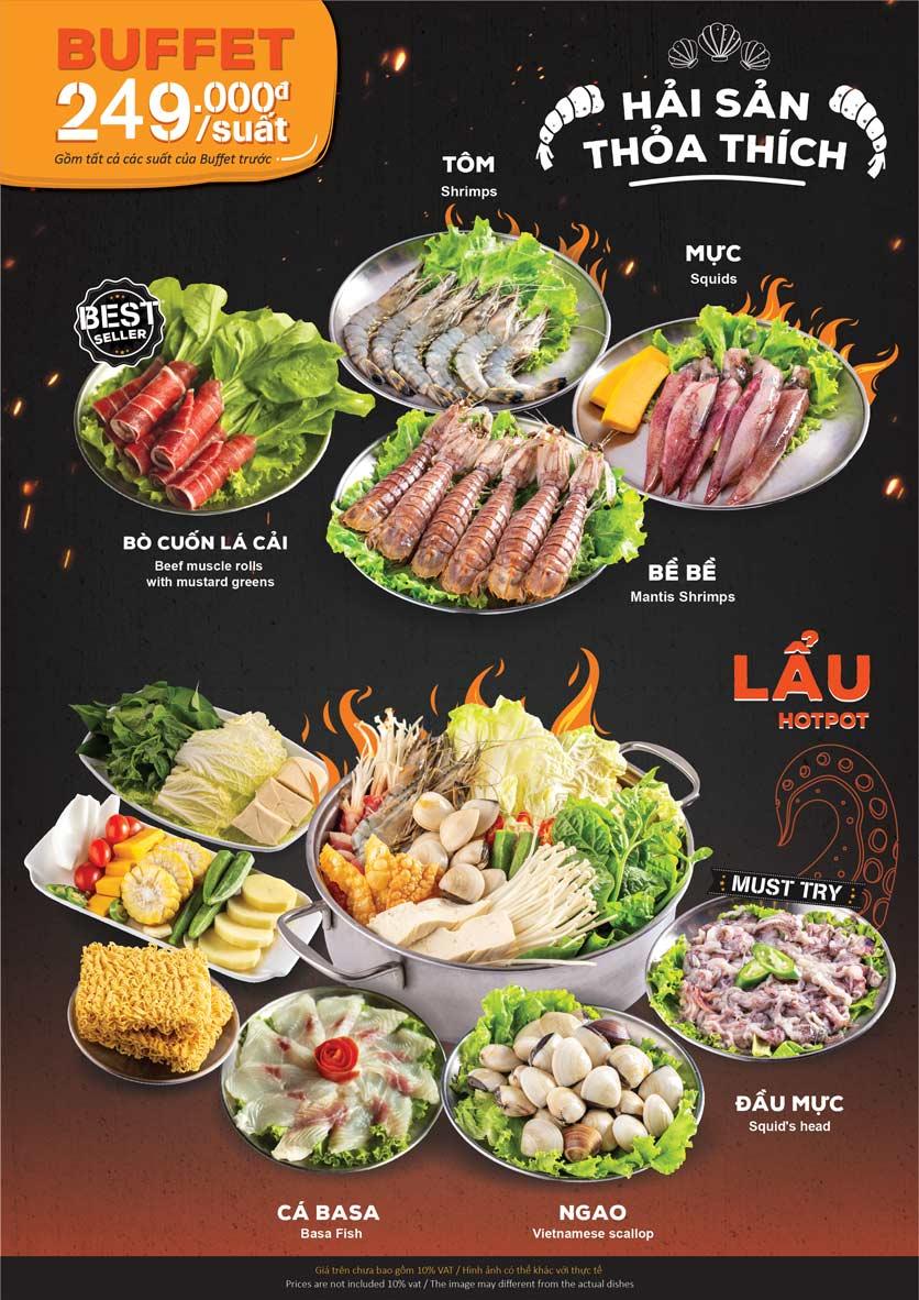 Menu KIMHO BBQ - Buffet Nướng & Lẩu – Tô Hiệu 5