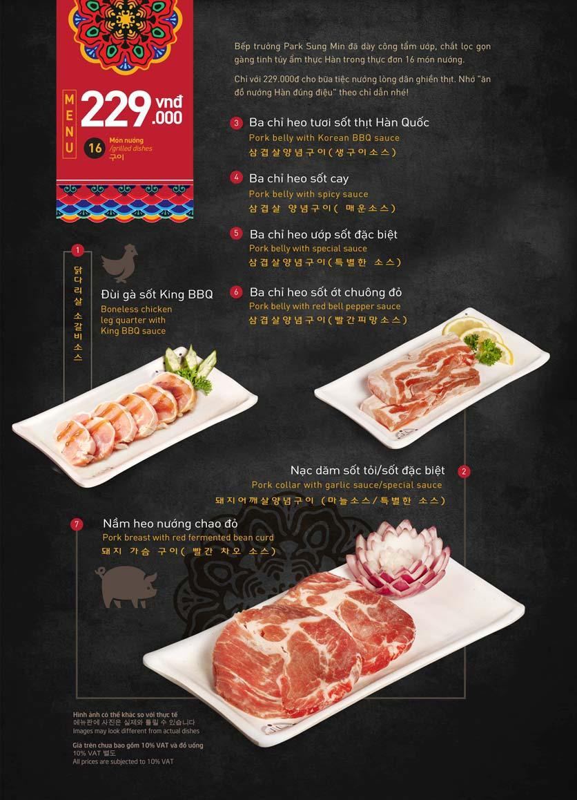 Menu King BBQ Buffet - Aeon Mall Hà Đông 3