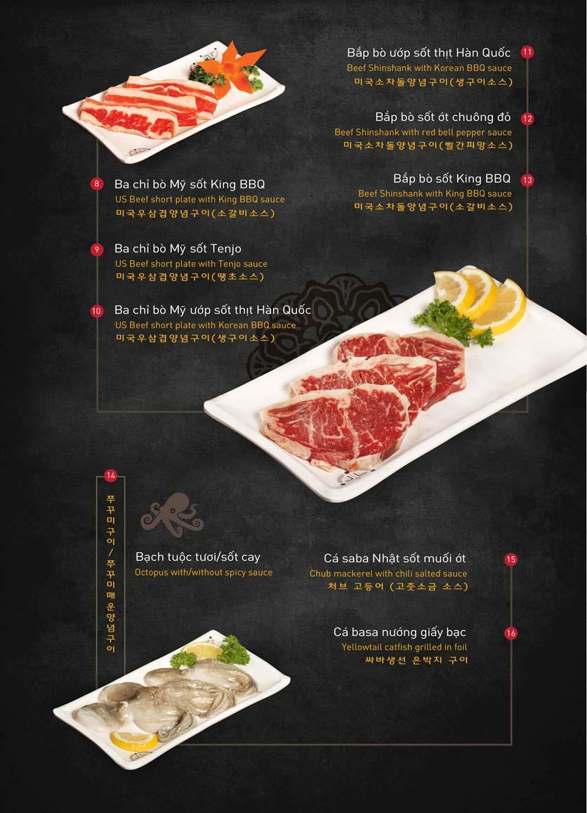 Menu King BBQ Buffet - Aeon Mall Hà Đông 4