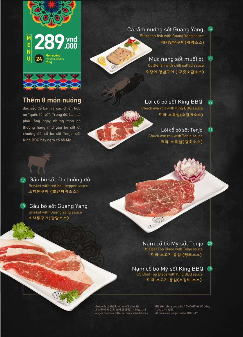 Menu King BBQ Buffet - Aeon Mall Hà Đông 5