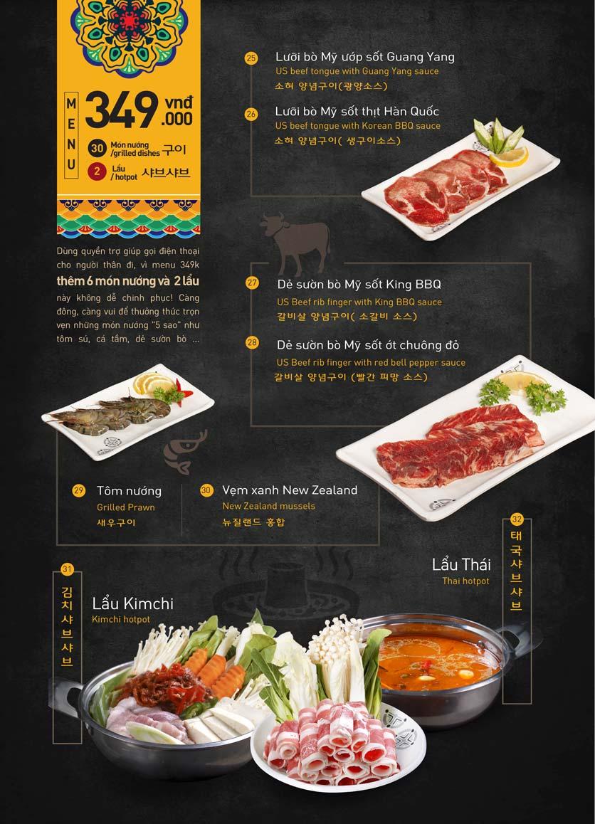 Menu King BBQ Buffet - Aeon Mall Hà Đông 9