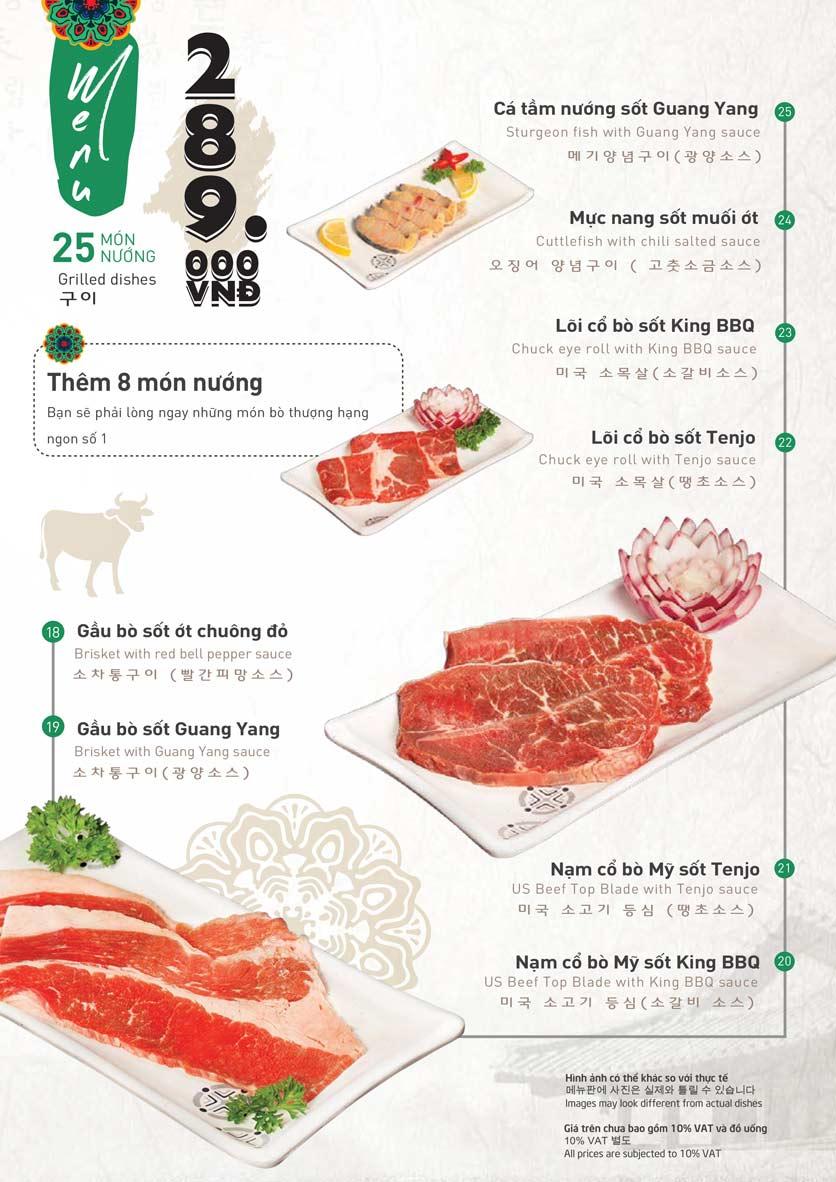 Menu King BBQ Buffet - Nguyễn Văn Quá  8