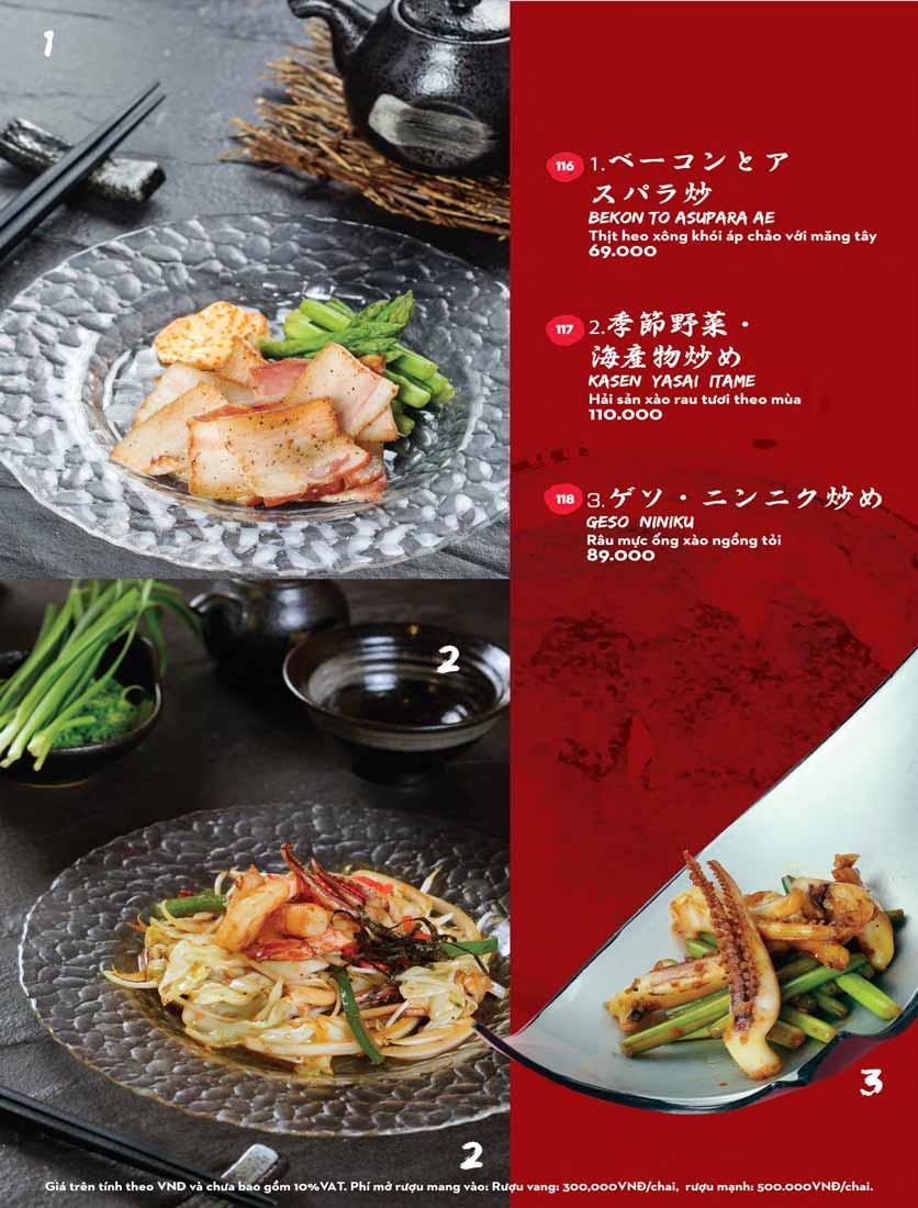 Menu Kisu Sushi – Trần Quốc Toản 12