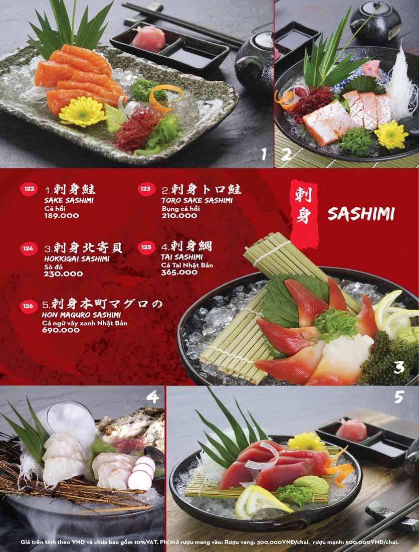 Menu Kisu Sushi – Trần Quốc Toản 14