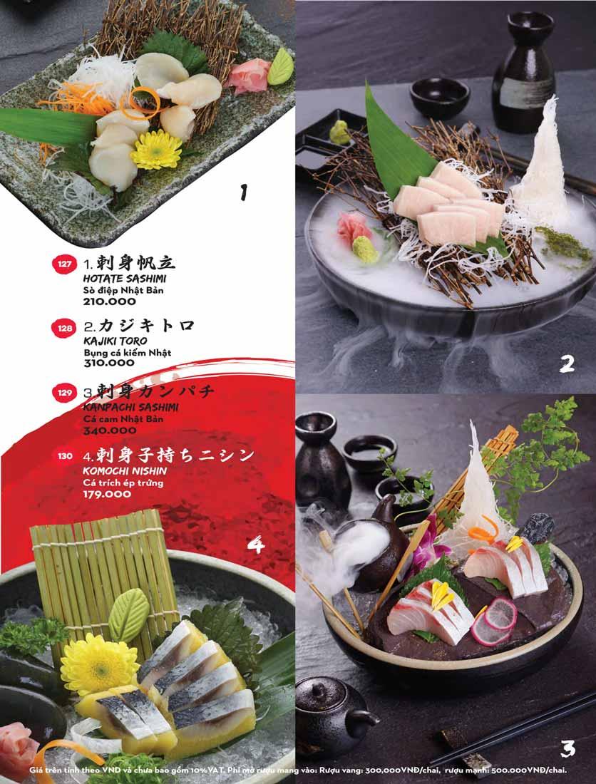 Menu Kisu Sushi – Trần Quốc Toản 15