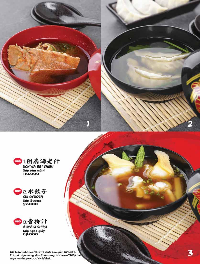 Menu Kisu Sushi – Trần Quốc Toản 2