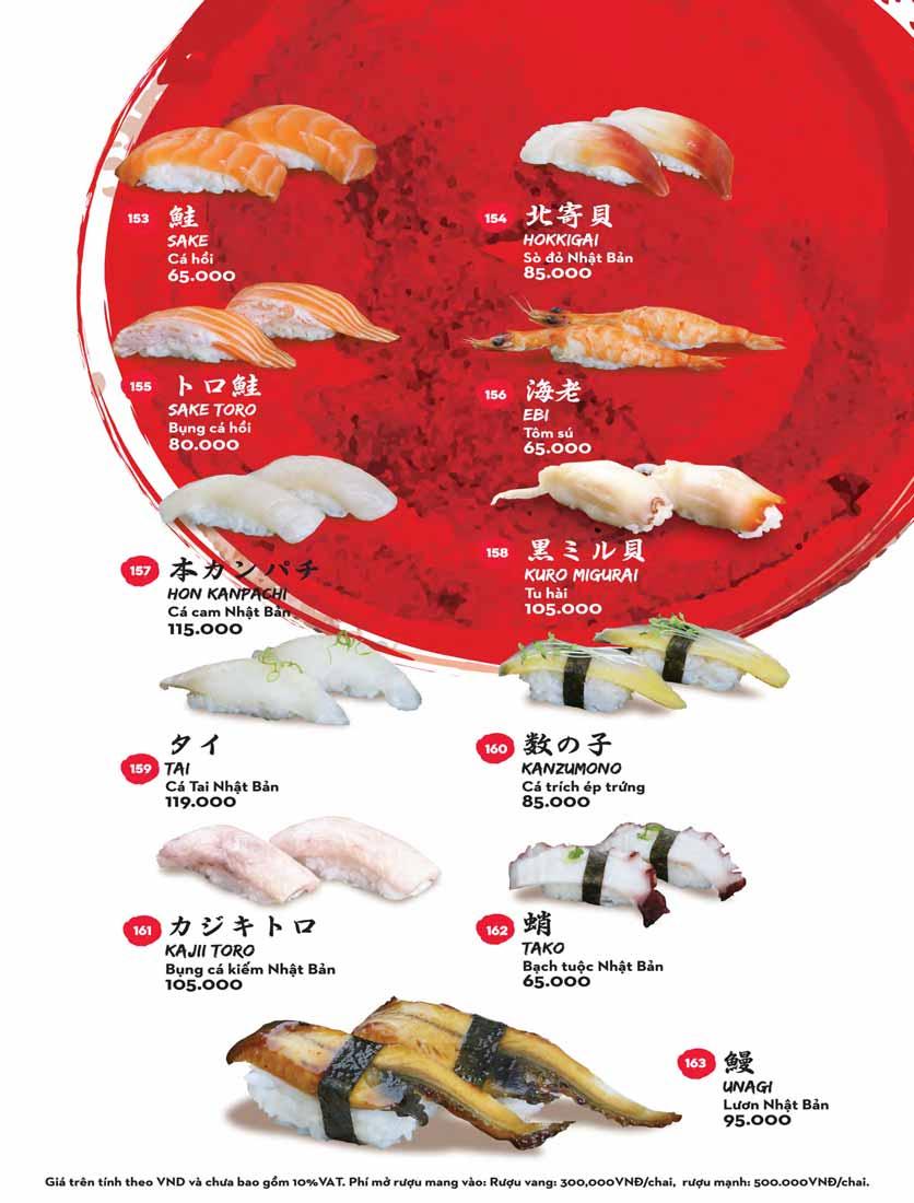 Menu Kisu Sushi – Trần Quốc Toản 26