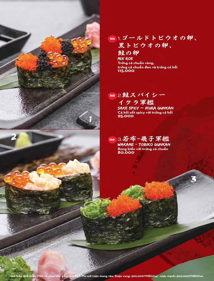 Menu Kisu Sushi – Trần Quốc Toản 27