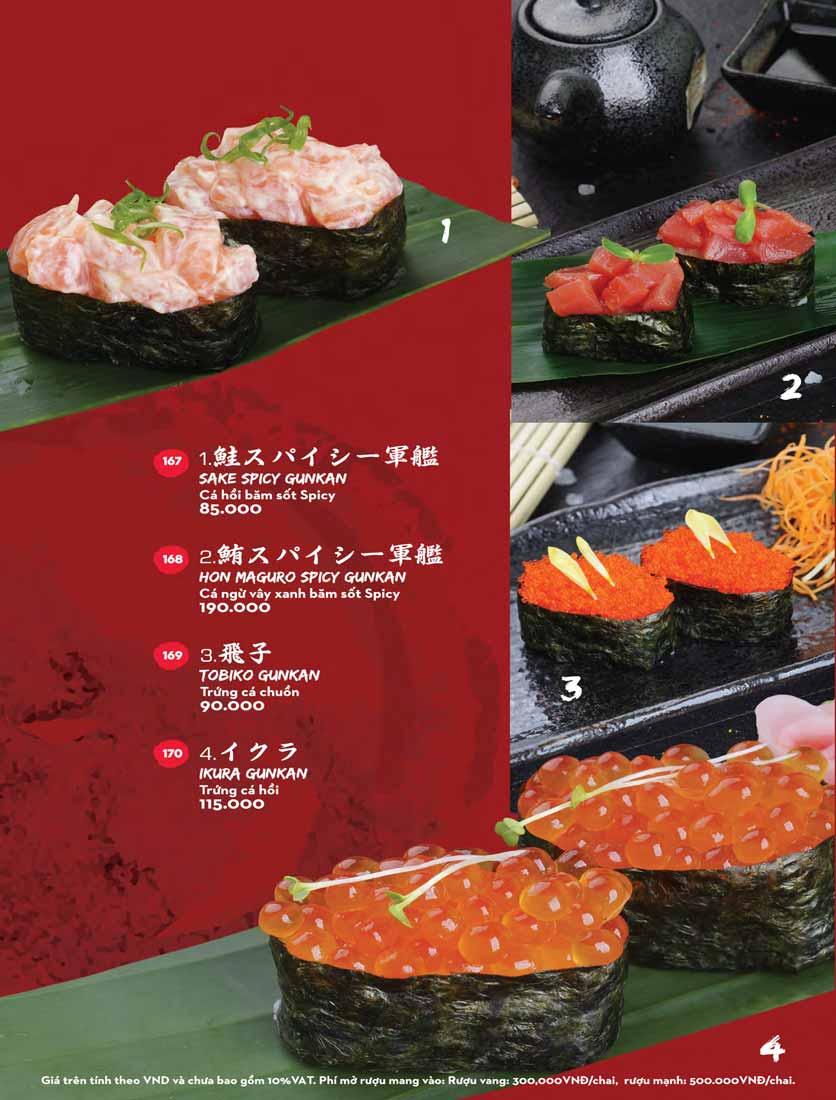 Menu Kisu Sushi – Trần Quốc Toản 28