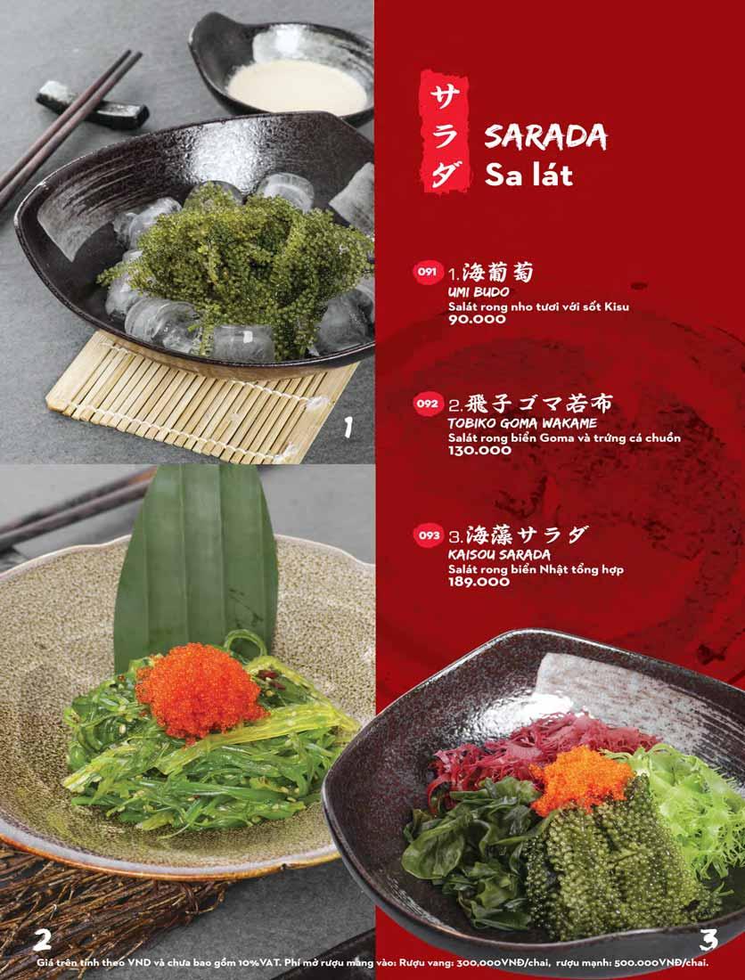 Menu Kisu Sushi – Trần Quốc Toản 3