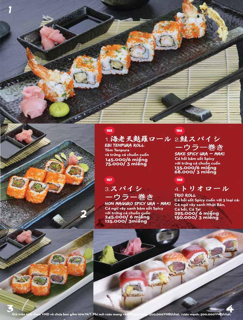 Menu Kisu Sushi – Trần Quốc Toản 34