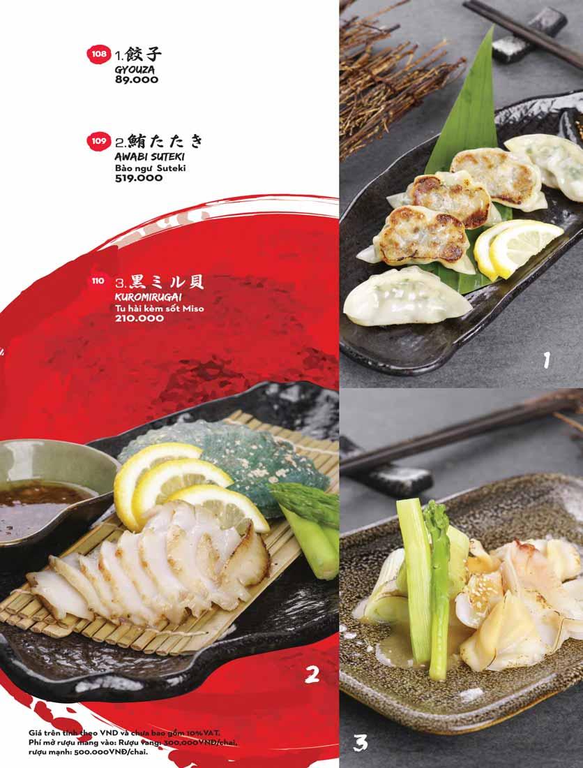 Menu Kisu Sushi – Trần Quốc Toản 9
