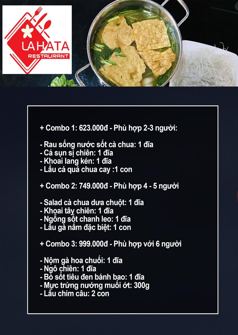Menu Lahata Restaurant - Dương Đình Nghệ 1