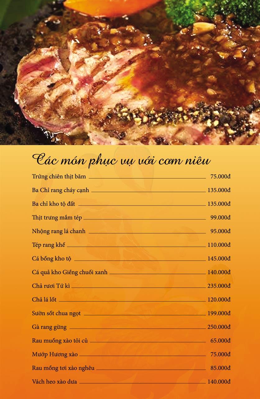 Menu Làng Niêu & Nướng - Trần Văn Lai 3