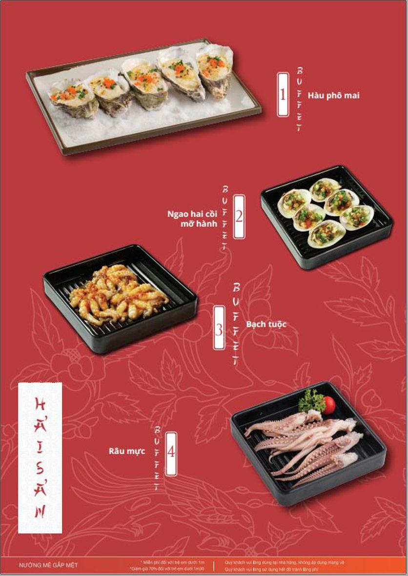 Menu Làu - Buffet Lẩu Nướng - Nguyên Hồng 11