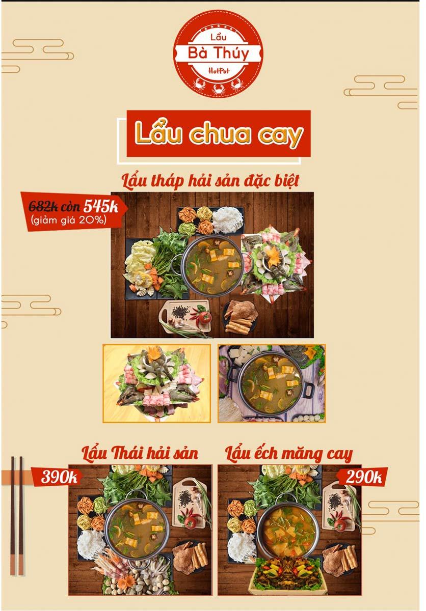 Menu Lẩu Bà Thúy - Linh Đàm 8