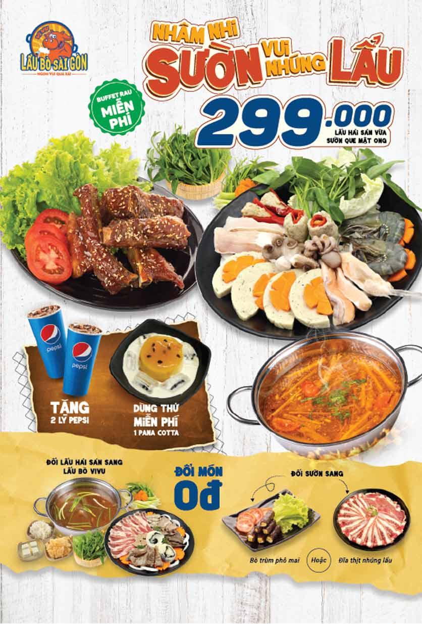 Menu Lẩu Bò Sài Gòn Vi Vu – Aeon Mall Bình Tân 5