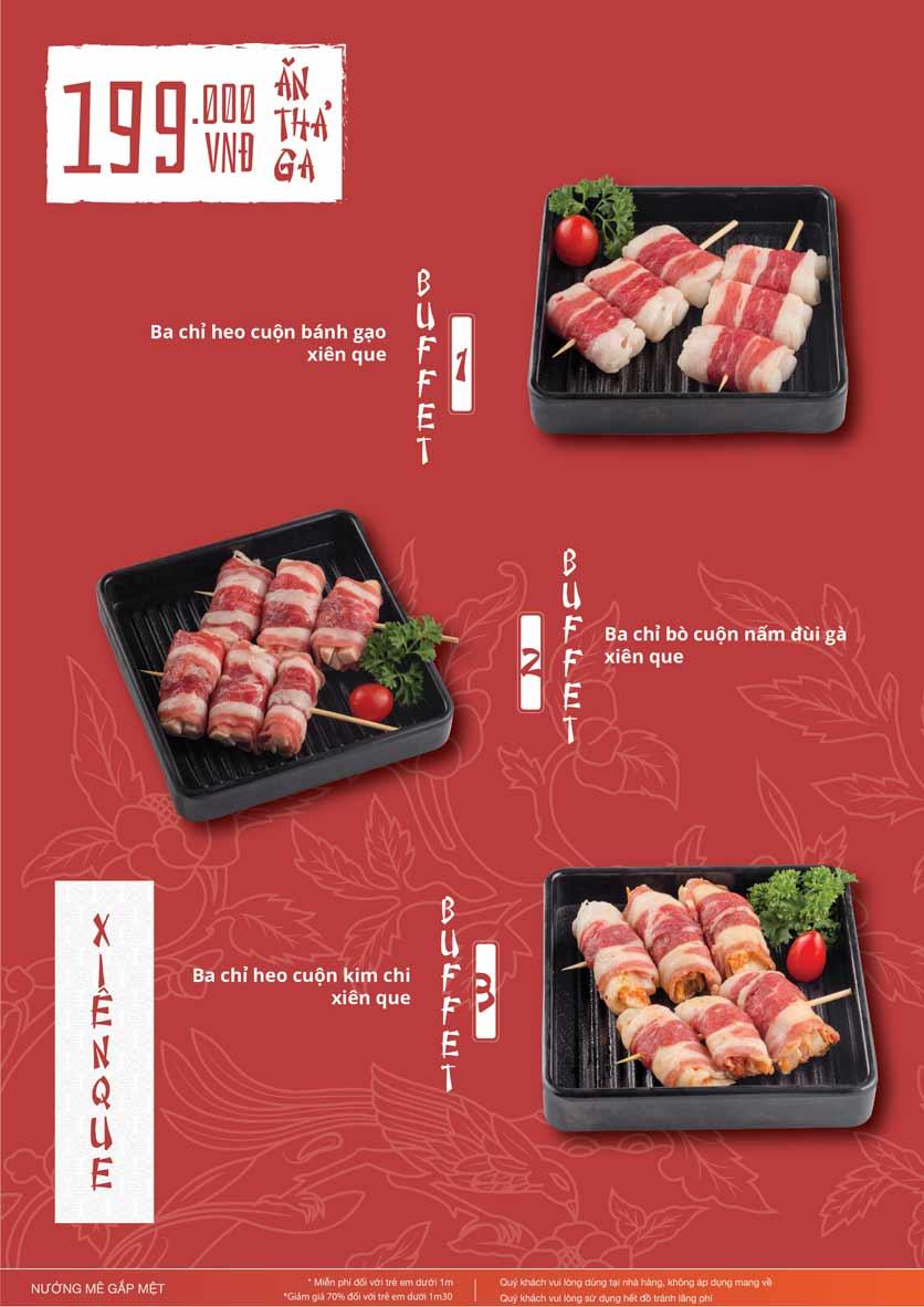 Menu Làu - Buffet Lẩu Nướng - Nguyên Hồng 10