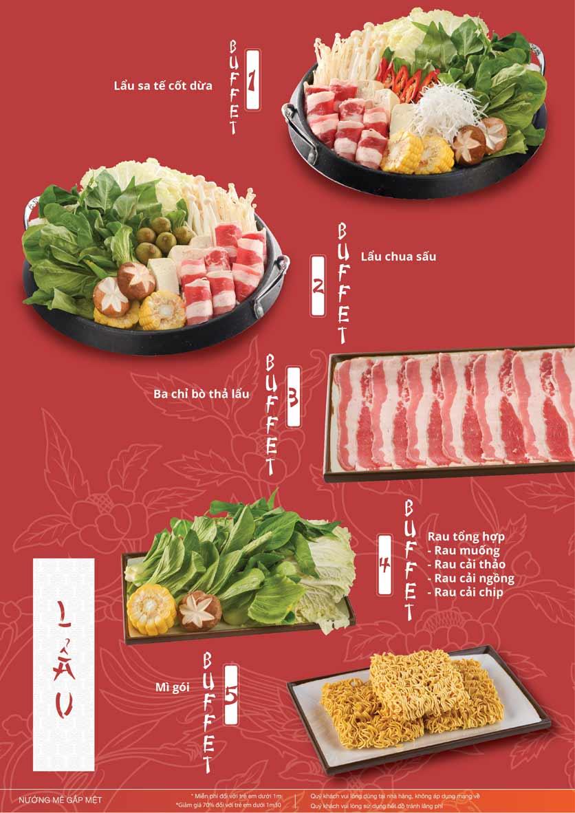 Menu Làu - Buffet Lẩu Nướng - Nguyên Hồng 13