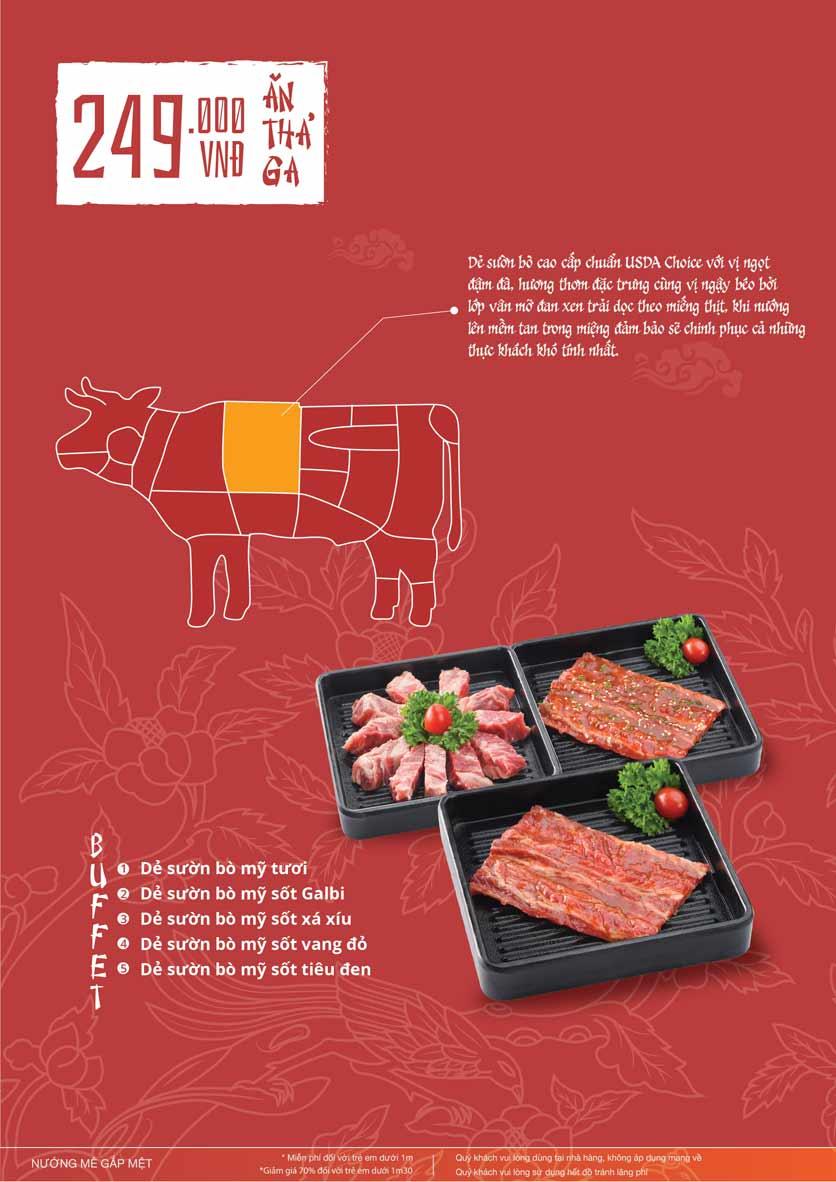 Menu Làu - Buffet Lẩu Nướng - Nguyên Hồng 14
