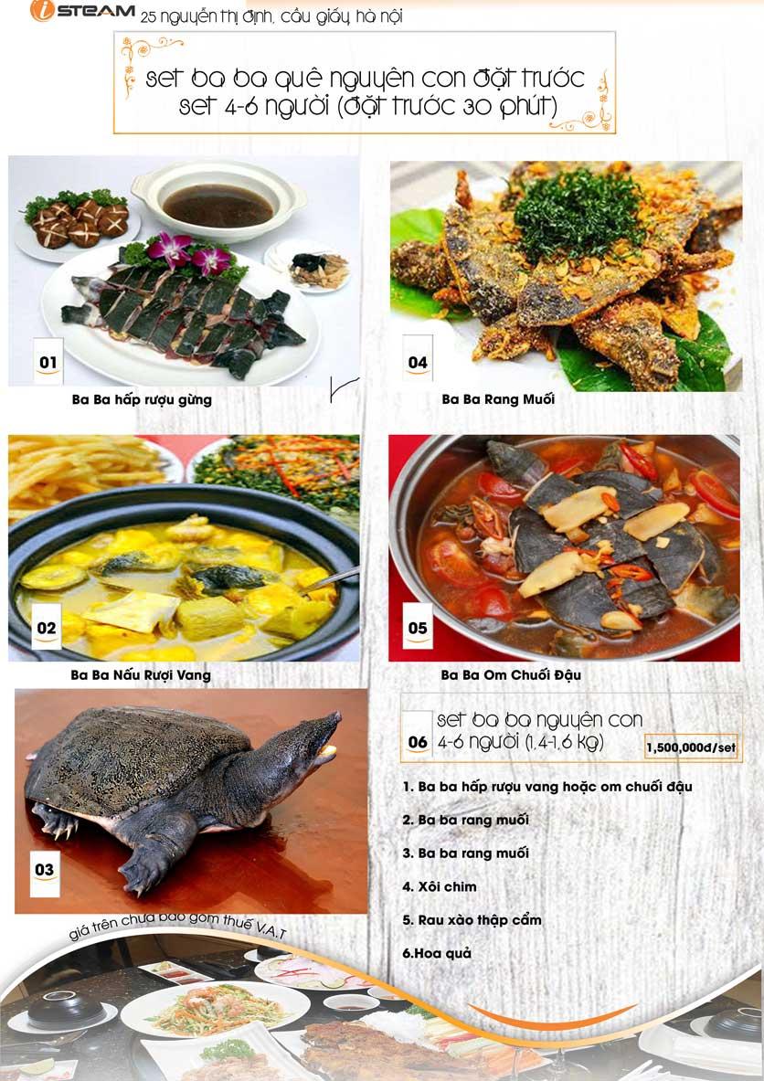 Menu iSteam - Nguyễn Thị Định 10
