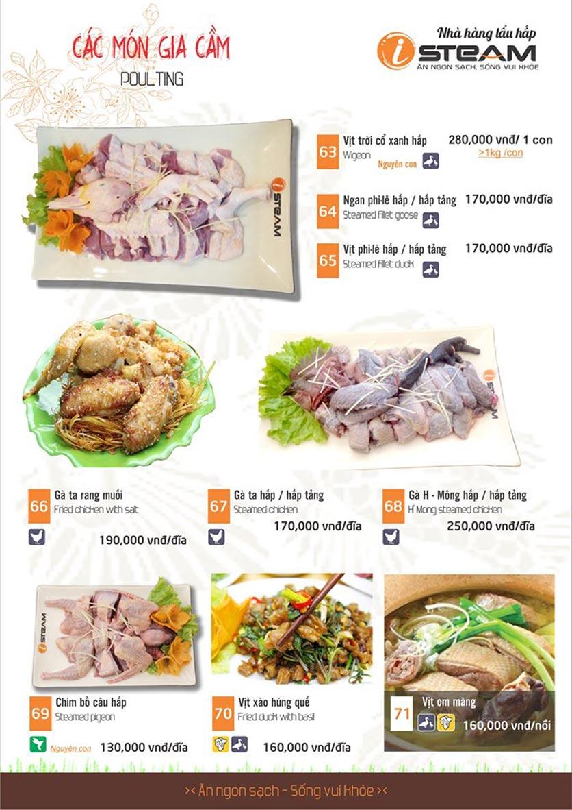 Menu iSteam - Nguyễn Thị Định 12