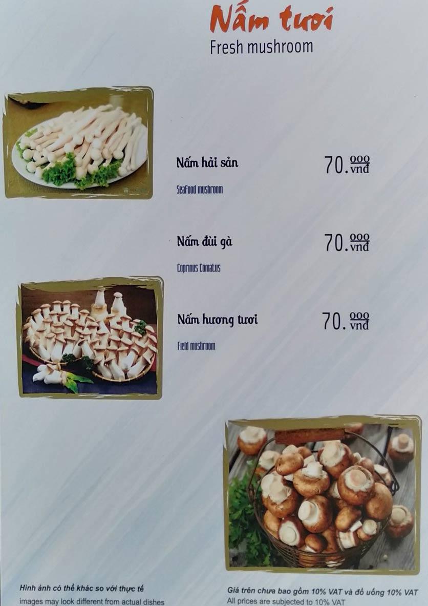 Menu Lẩu Nấm Thảo Quý  11