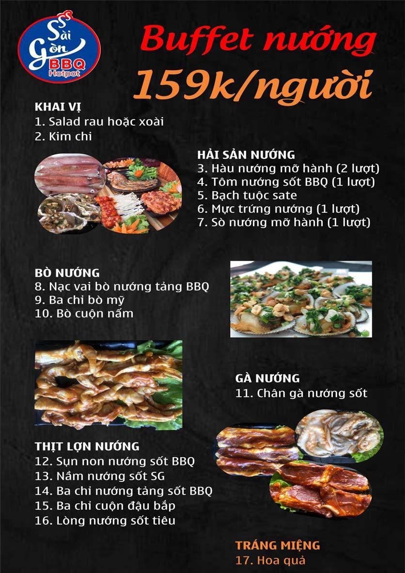 Menu Lẩu Nướng Không Khói Sài Gòn – 258 Thượng Đình  4