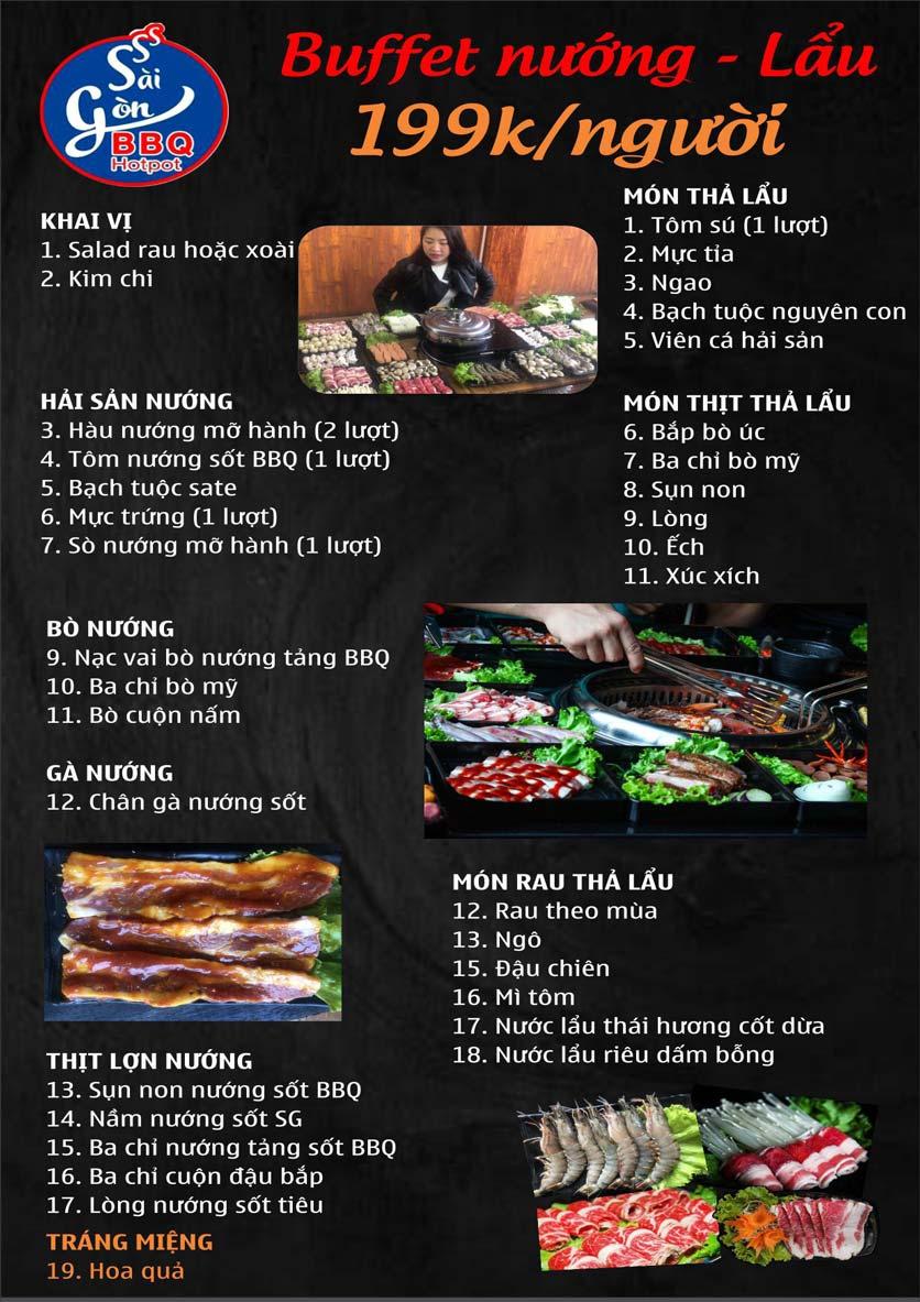 Menu Lẩu Nướng Không Khói Sài Gòn – 258 Thượng Đình  5