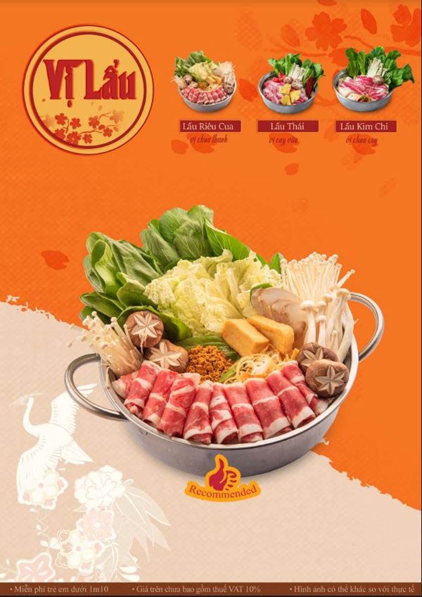 Menu Lẩu Phan - Mon City 1