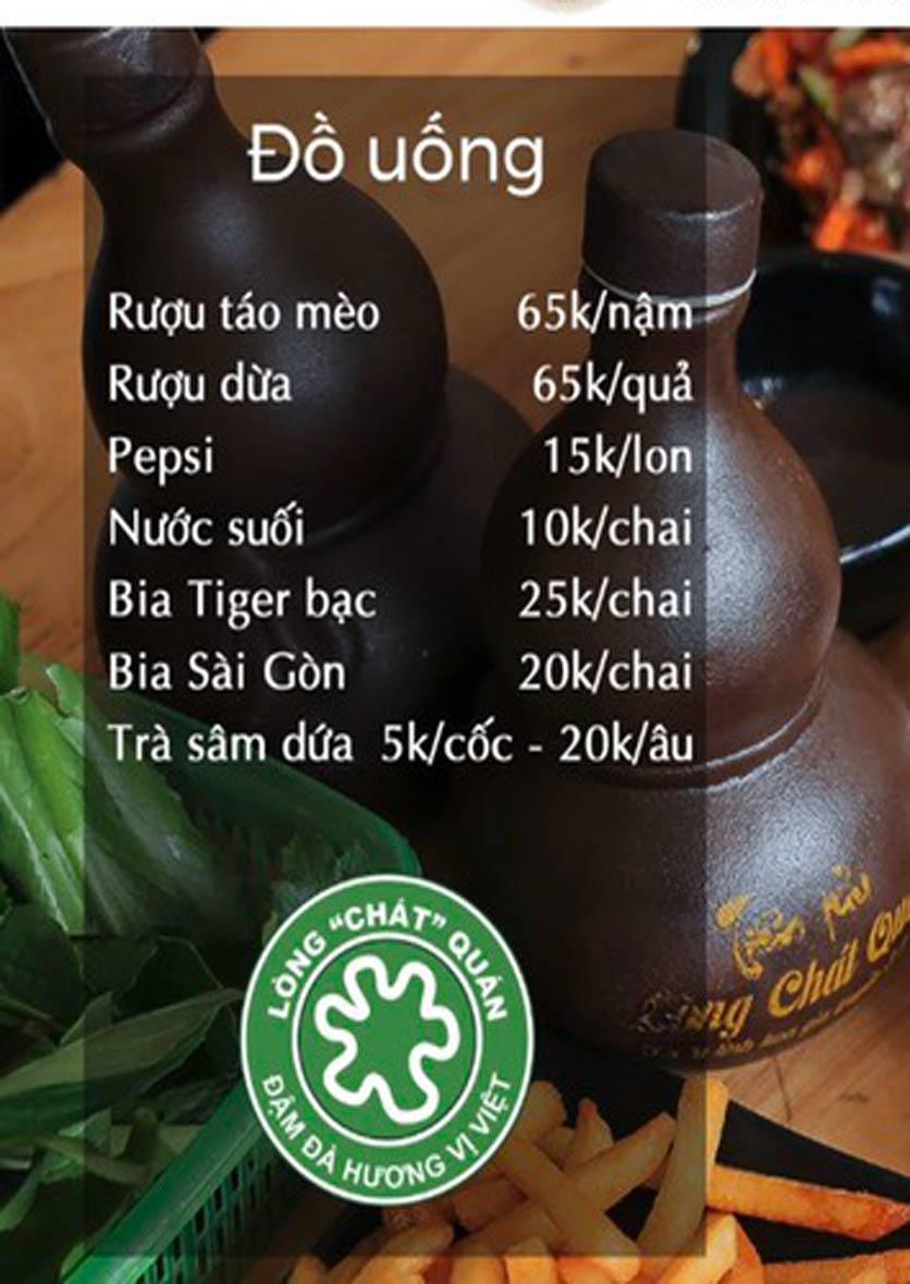 """Menu Lòng """"Chát"""" Quán - Trần Thái Tông 4"""
