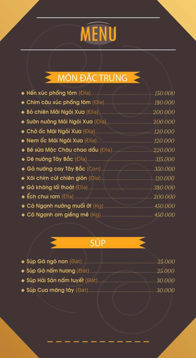 Menu Mái Ngói Xưa – Nguyễn Văn Lộc    1