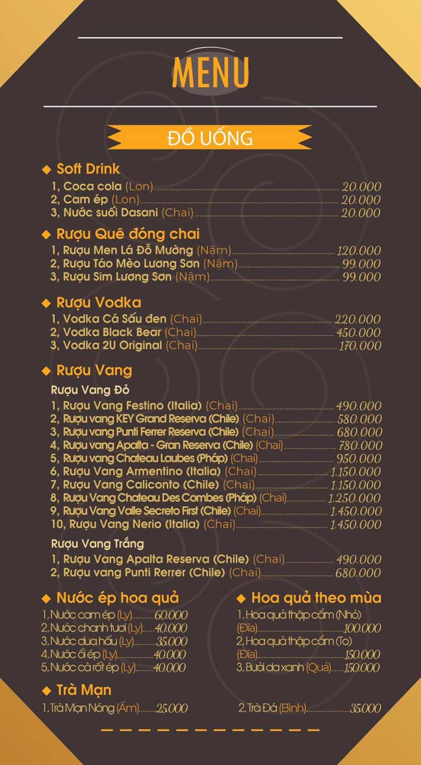 Menu Mái Ngói Xưa – Nguyễn Văn Lộc    11