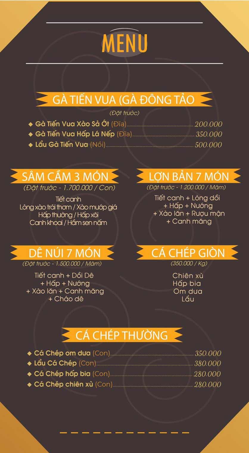 Menu Mái Ngói Xưa – Nguyễn Văn Lộc    7