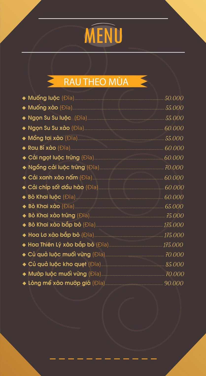 Menu Mái Ngói Xưa – Nguyễn Văn Lộc    8